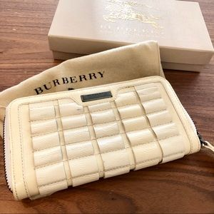 White Burberry Wallet